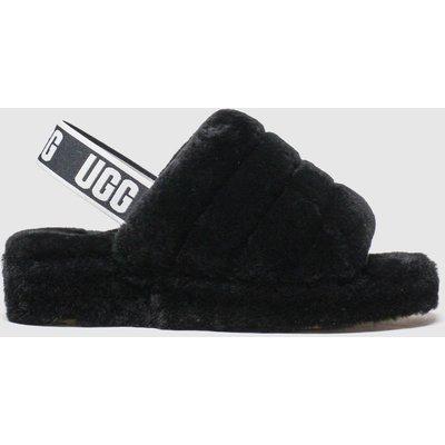 Ugg Black Fluff Yeah Slide Sandals
