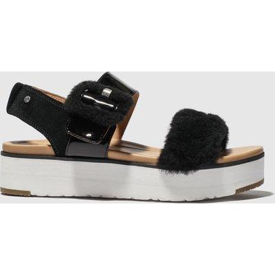 Ugg Black Le Fluff Sandals