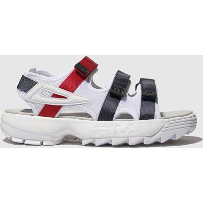 Fila White & Navy Disruptor Sandal Sandals