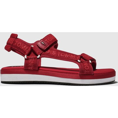 Tommy Hilfiger Red Tj Mesh Webbing Sporty Sandals