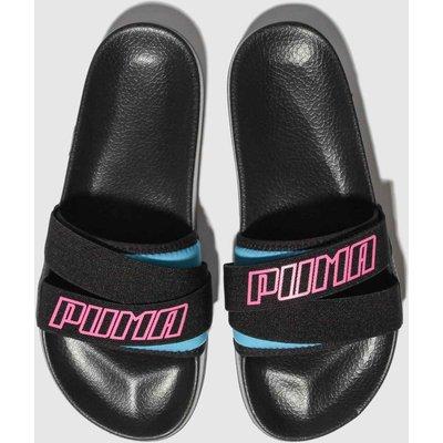 Puma Black And Blue Leadcat T2 Sandals