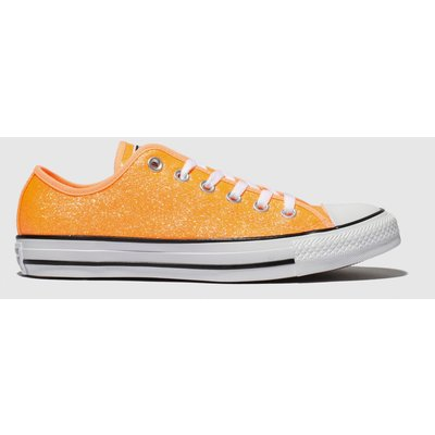 Converse Orange All Star Glitter Ox Trainers