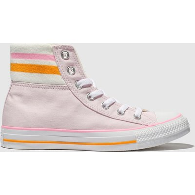 Converse Pale Pink All Star 80s Cuffed Trainers