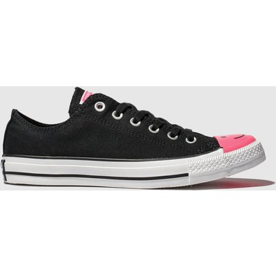 Converse Black & Pink All Star Carnival Ox Trainers