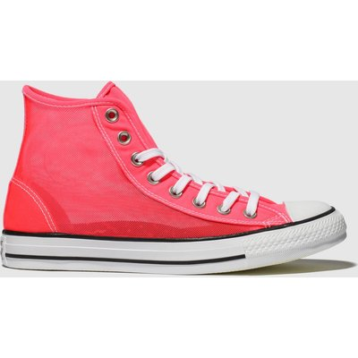 Converse Pink All Star See-through Hi Trainers