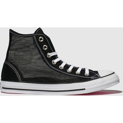 Converse Black & White All Star See-through Hi Trainers