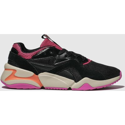 Puma Black & Pink Nova Urban 90s Trainers