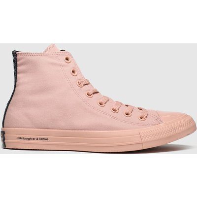 Converse Pale Pink All Star Opi Hi Trainers