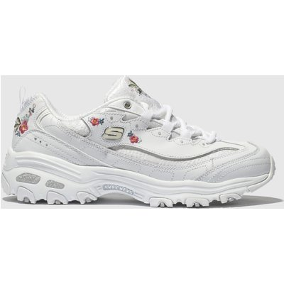 Skechers White Dlites Bright Blossoms Trainers
