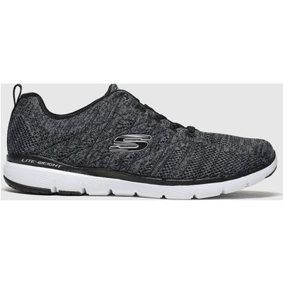 Skechers Black & White Flex Appeal 3.0 High Tides Trainers