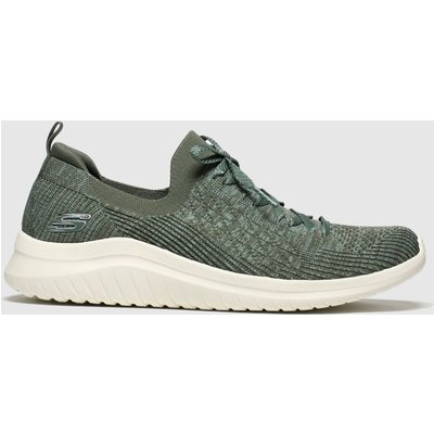 Skechers Khaki Ultra Flex 2.0 Flash Illusion Trainers