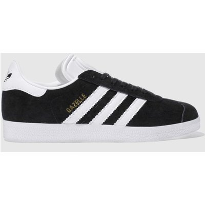 adidas black   white gazelle suede trainers - 4056566345457