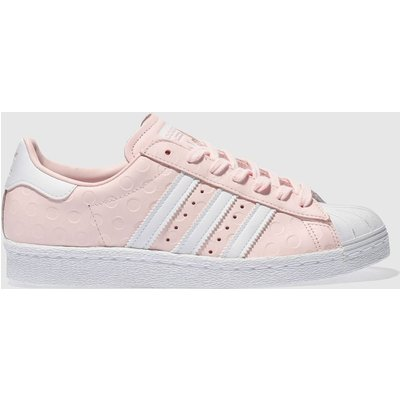 adidas pale pink superstar 80s trainers - 4058025347880