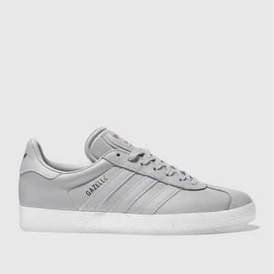 4058025130338  adidas light grey gazelle leather trainers 5692ed201