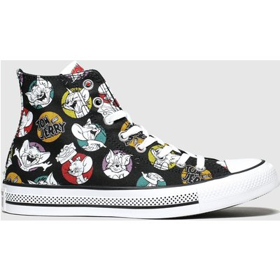 Converse Black & White All Star Hi Tom & Jerry Trainers