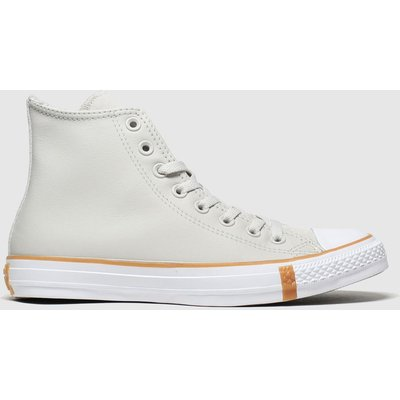 Converse Grey All Star Faux Shearling Hi Trainers