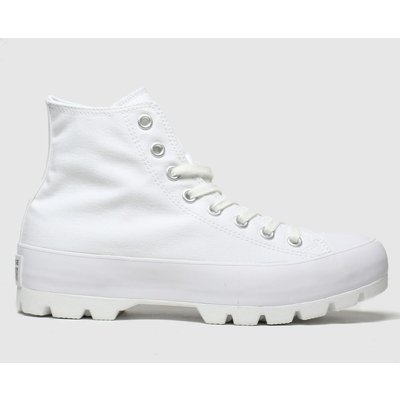 Converse White Lugged Hi Trainers