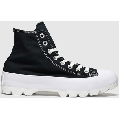 Converse Black & White Chuck Taylor All Star Lugged Trainers
