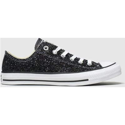 Converse Black All Star Galaxy Dust Ox Trainers