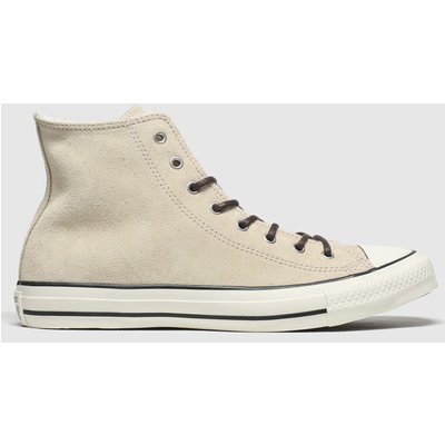 Converse Natural All Star Sherpa Hi Trainers