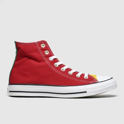 Converse Red & Blue All Star Hi Colour Block Trainers