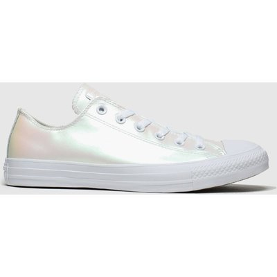 Converse White All Star Ox Iridescent Trainers