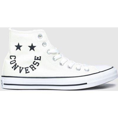 Converse White & Black Hi Smile Trainers