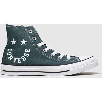 Converse Dark Green Hi Smile Trainers