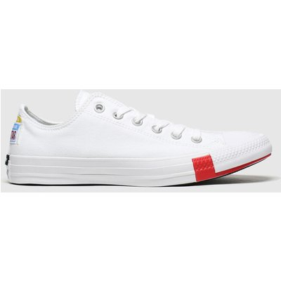 Converse White Ox Logo Play Trainers
