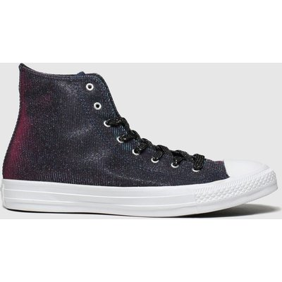 Converse Black & Pink All Star Starware Hi Trainers