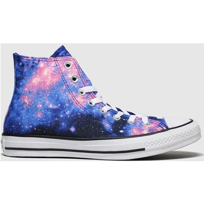 Converse Black And Blue All Star Miss Galaxy Hi Trainers