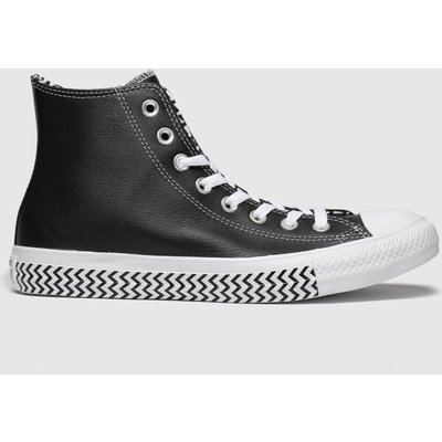 Converse Black & White All Star Mission V Hi Trainers