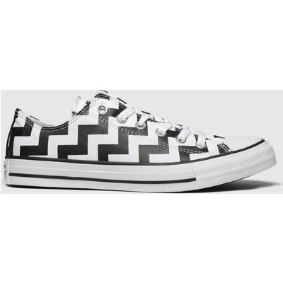 Converse White & Black All Star Glam Dunk Ox Trainers