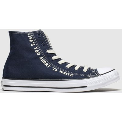 Converse Navy & White All Star Renew Hi Trainers