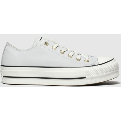 Converse Light Grey Chuck Taylor All Star Lift Ox Trainers