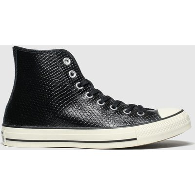 Converse Black & White All Star Metallic Snake Hi Trainers