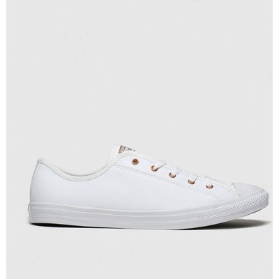 Converse White & Gold All Star Dainty Gs Ox Trainers