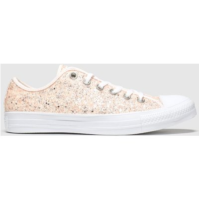 Converse Pale Pink Chunky Glitter Ox Trainers