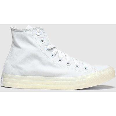 Converse Light Grey Pearlised Hi Trainers