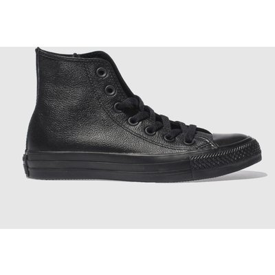 Converse Black Hi Leather Mono Trainers