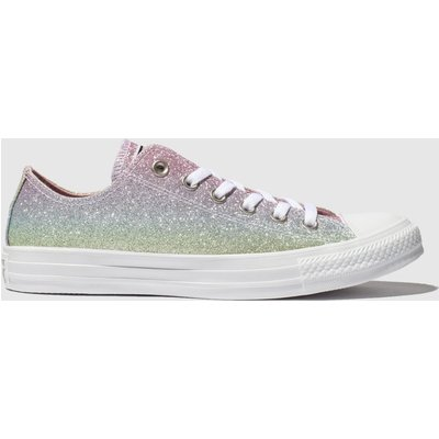 Converse Multi All Star Rainbow Glitter Ox Trainers