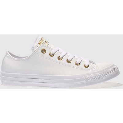 Converse White & Gold Chuck Taylor All Star Craft Ox Trainers
