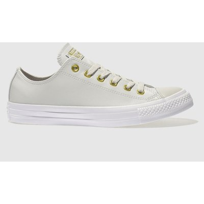 Converse Light Grey Chuck Taylor All Star Craft Ox Trainers