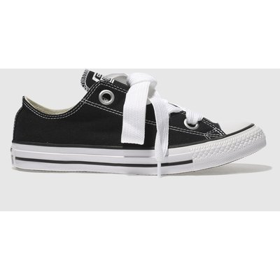 Converse Black & White All Star Big Eyelets Ox Trainers