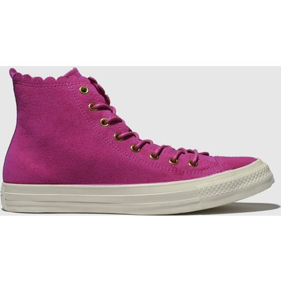 Converse Pink All Star Hi Frilly Thrills Trainers