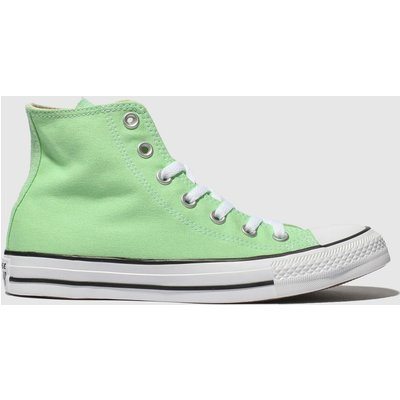 Converse Light Green Chuck Taylor All Star Hi Trainers