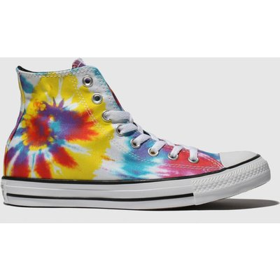 Converse Multi All Star Tie Dye Hi Trainers