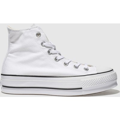 Converse White Chuck Taylor All Star Lift Hi Trainers