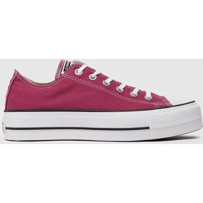Converse Burgundy Chuck Taylor All Star Lift Ox Trainers
