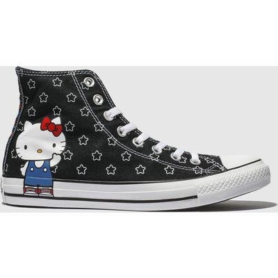 Converse Black & White All Star Hello Kitty Hi Trainers